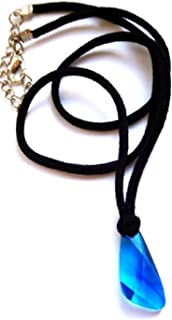 H2o Mako Mermaid Blue Crystal Pendant Inspired Necklace. Costume Acc. H20 Just Add Water.