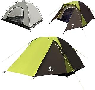 GeerTop テント 2-3人用 軍幕テント 大前室 換気窓 二重層 完全防水 通気 防風 簡単設営 軽量 アウトドア キャンプ ツーリング 登山 コンパクト収納…