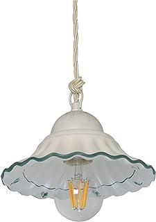VANNI LAMPADARI - Lampadario a sospensione In Ceramica Decorata A Mano Disponibile In 5 Finiture