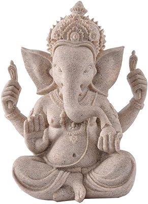 LOSAYM Estatuas para Jardín Esculturas Y Estatuas De Jardín Arenisca Elefante Dios Buda Estatua Señor Ganesha Esculturas Ganesh Figuras Budismo Hindú Estatuas para Decoración: Amazon.es: Hogar