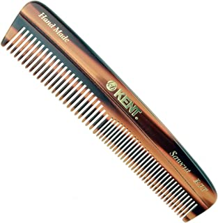 Kent R7T Handmade Fine and Coarse Toothed Saw-Cut Pocket Travel Comb (5