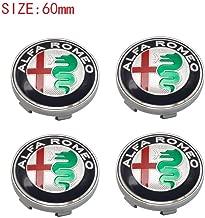 4pcs Silv Car Emblem Wheel Center Hub Cap Wheel Badge Covers for ALFA Romeo Mito 147 156 159 166 Giulietta Spider Stelvio Blue