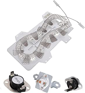 DC47-00019A Dryer Heating Element & DC47-00018A Thermostat & DC96-00887A and DC47-00016A Thermal Fuse Kit 5300W 240V for Samsung Kenmore Replace 35001247 2068550 AP4201899