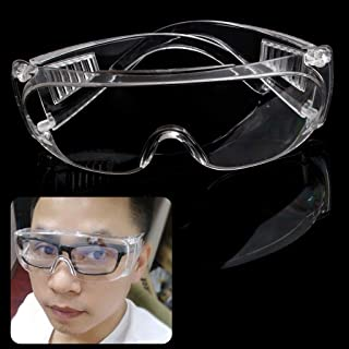 Amrka Transparent Safety Glasses Vented Glasses Eye Protective Goggles for Lab Anti Fog Glasses