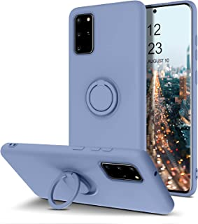 BENTOBEN Samsung Galaxy S20 Plus Case, Slim Silicone Soft Rubber with 360° Ring Holder Kickstand Car Mount Supported Prote...