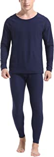 Men's Ultra Soft Thermal Underwear Set Cotton Long Johns Base Layer Fleece Lined S-XXL