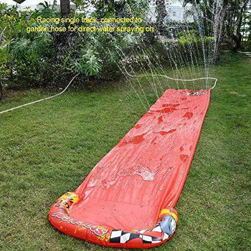Doble Tobogán De Agua para Niños Piscina De Verano Juegos para Niños Juguetes Divertidos Patio Trasero Wave Rider Grande 4.8M-Los 500X90Cm