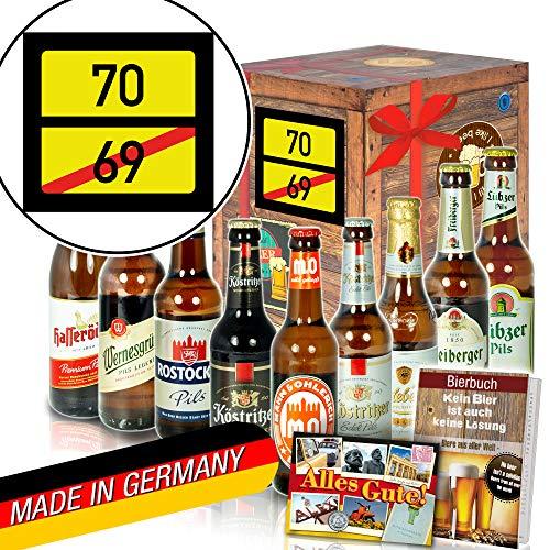 Ortsschild 70 ++ Geschenke zum 70 Geburtstag für Frauen ++ DDR Bierbox