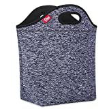 Grey Lunch Bag for Women Large Reusable Big Lunch Box Thermal Insulated Lunch Tote Bag for Office Work Outdoor Travel Picnic