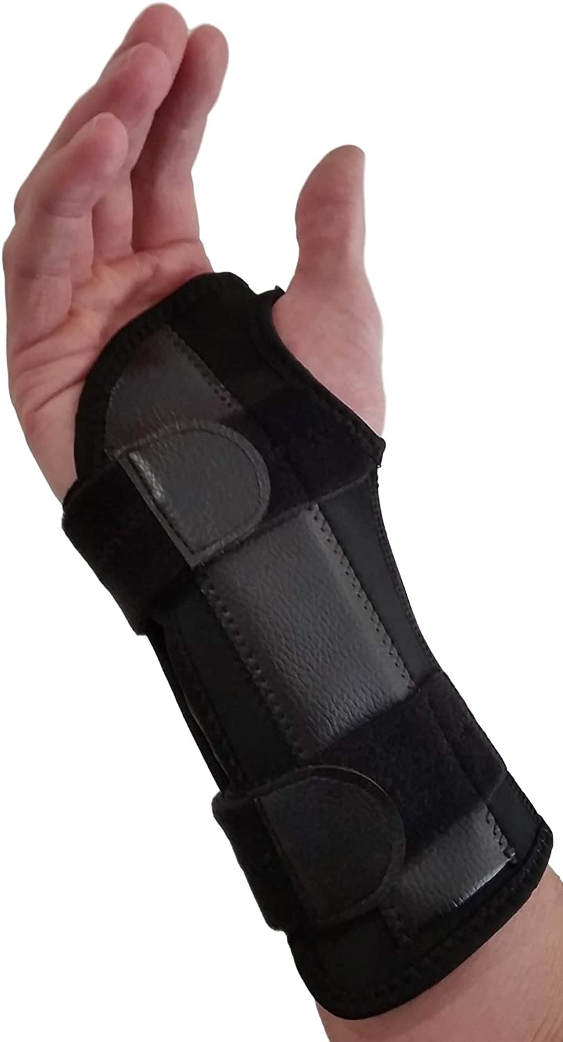 Carpal Tunnel Wrist Brace Night Support - Wrist Splint Arm Stabilizer & Hand Brace for Carpal Tunnel Syndrome Pain Relief with Compression Sleeve for Forearm or Wrist Tendonitis Pain Treatment (Right)