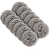MR. SIGA - Spugna abrasiva in acciaio INOX, 30 g, confezione da 12 Confezione da 12, in acciaio inox.