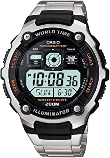 Casio Men's Black/Grey Dial Stainless Steel Digital Watch - AE-2000WD-1AVDF