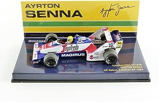 minichamps- 540844339–Minichamps Toleman–Hart TG 183B–principios en F1de Ayrton Senna 1984- Azul/Blanco/Rojo–Escala 1/43