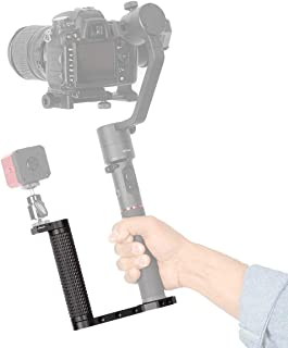 Dazzne Universal Gimbal Stabilizer Handheld Grip L Bracket Rig w Cold Shoe Adapter Compatible for Ronin S/Ronin SC/Zhiyun Crane 2/Smooth 4 /Osmo Mobile 2/MOZA AirCross