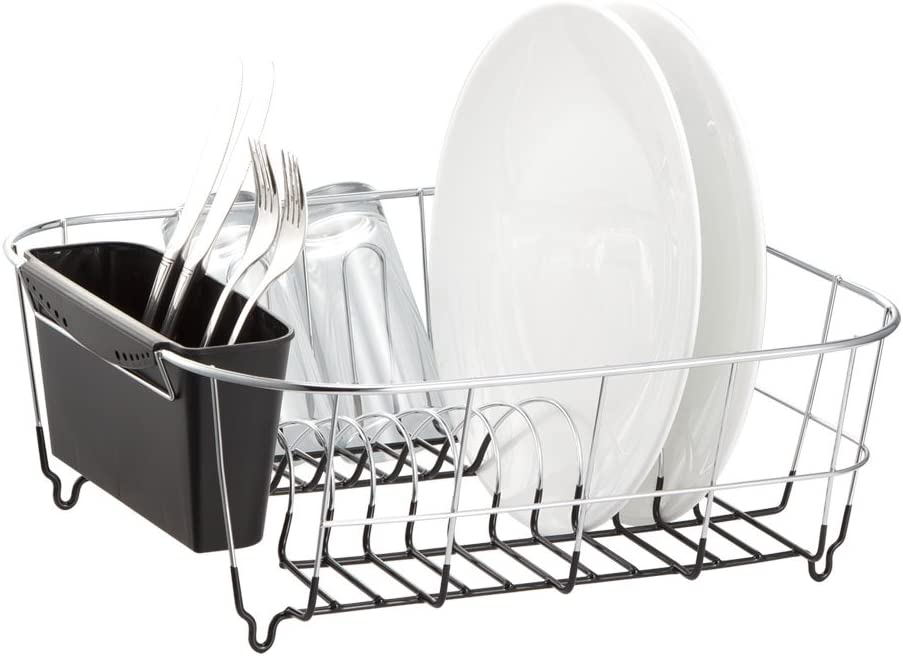 Deluxe Chrome-Plated Price reduction Steel Small Dish Black Ranking TOP12 Drainers