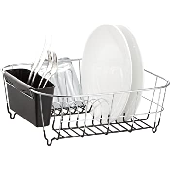 Deluxe Chrome-Plated Steel Small Dish Drainers (Black)