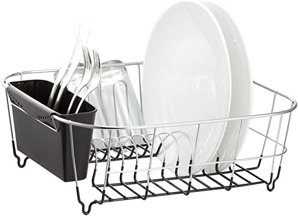 Neat O Deluxe Chrome Plated Steel Small Dish Drainers Black