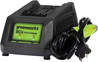 Greenworks 24V Lithium Ion Battery Charger 29862, Color may vary