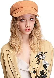 AMAKU Women Newsboy Hat Cotton 8 Panel Plain Cap Berets Gatsby Visor for Spring Summer Autumn