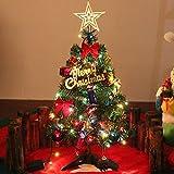 【Dimensione】 Circa. 20 pollici / 50 cm di altezza, si adatta ovunque 【Ornamenti di albero】 Oltre all'albero di Natale, ci sono una luce di stringa colorata con 20leds, fiocchi di nastro rosso, coni di pino naturale, mini tamburi di natale, piccoli sa...