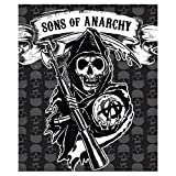 SOA Sons of Anarchy Mink to Sherpa Throw 50' X 60' Official Licensed Blanket