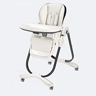 Portable Adjustable Baby High Chair 3-in-1 Toddler Table Foldable Booster Seat With Double Table And Wheels From 6 Months ...