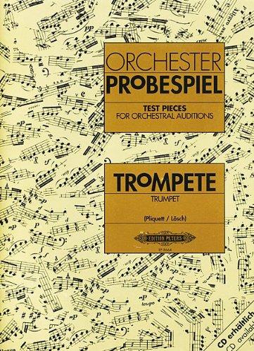 Repertorio Orquestal - Orchester Probenspiel (Test Pieces) para Trompeta (Libro) (Pliquett)