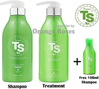 Premium TS Shampoo Promotion Set [ Shampoo 500ml (16.9oz) + Treatment 500ml (16.9oz) + Shampoo 100ml (3.38oz)], Top Selling Hair Loss Prevention Shampoo from Korea