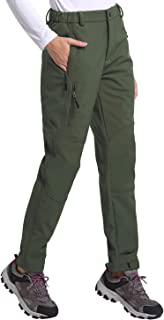 BALEAF Women's Hiking Ski Pants Windproof Fleece-Lined Water-Resistant Outdoor