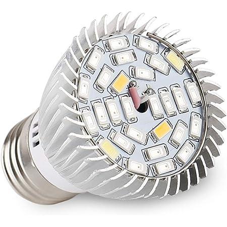 LED Grow Light Bulb 85-265V Full Spectrum Grow Lamp with UV/&IR E27 120 Wide Beam Angle for Indoor Plants Veg Seedling Growing and Flowering