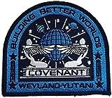 Super6props Alien Covenant Weyland Yutani Gebäude Bessere Welten Gesticktes Eisen Auf Flecken (100mm x 90mm)