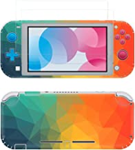 Taifond The Colorful Triangle Decals Stickers Set Faceplate Skin + 2Pcs Screen Protector for Nintendo for Switch Lite Cons...