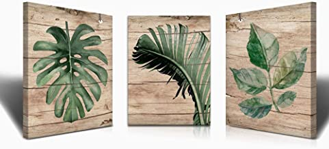 WOODEN PATTERN LEAF CANVAS WALL ART PICTURE  WS60 MATAGA  NO FRAME-ROLLED