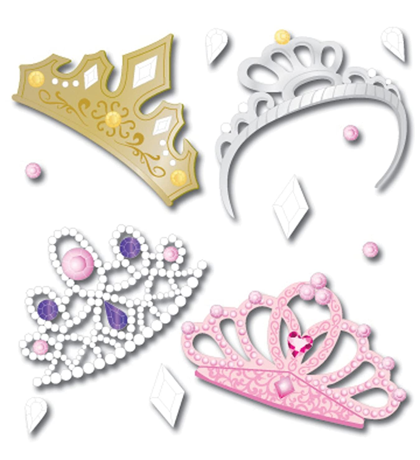 Jolee's Boutique Dimensional Stickers, Four Tiaras