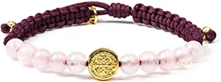 My Saint My Hero Wake Up and Pray Meditation Bracelet - Rose Quartz