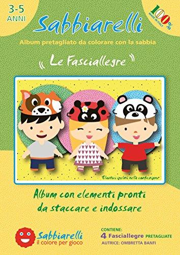 Sabbiarelli Sand-it for Fun - Album Die fröhlichen Stirnbänder: 4 lustigen Stirnbänder Masken zum bemalen mit Sand (Sand Nicht enthalten), Geeignet für Kinder Jahre 3+