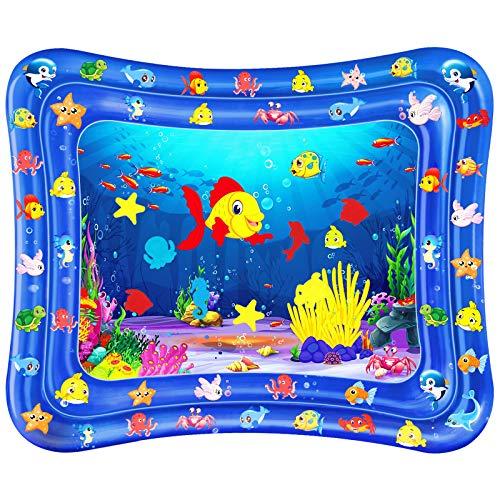 Dycsin Tappetino Gonfiabile per Neonati, Gonfiabili Per Bambini Giochi Per Neonati Bambini Centro per Giochie Bambino Gonfiabile Tappeti Giochi d'Acqua (120 * 100cm)