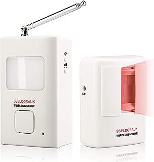 og Barking Alarm Motion Detector,Pir Wireless Human Body Walking Sensor Doorbell Door Security Alert System Device for Home or Office Burglar Deterrent