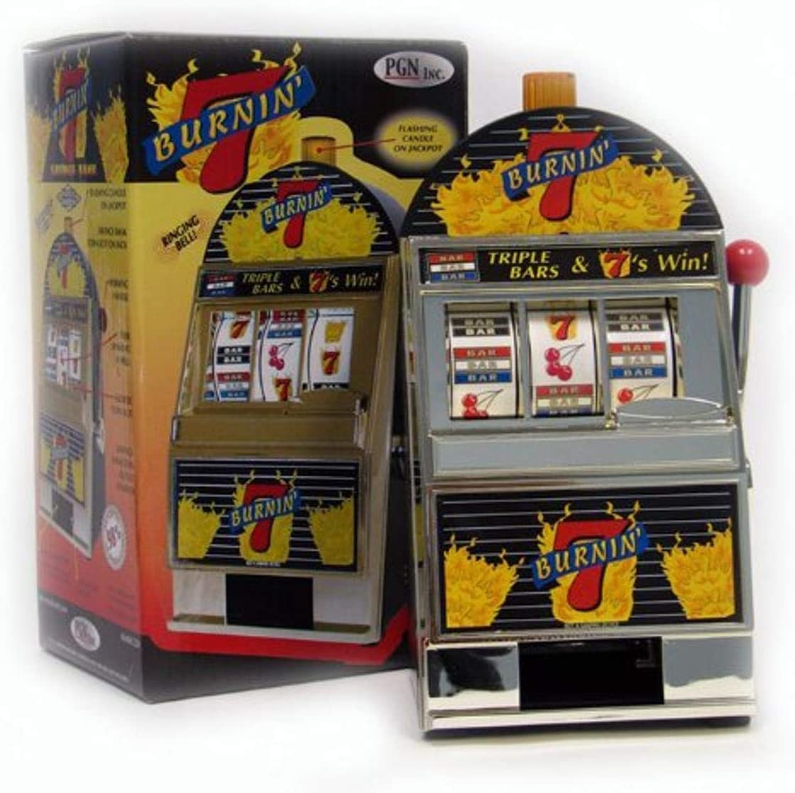 Trademark Global Burning 7's Slot Bank with Super special Max 47% OFF price Machine Spinning Ree