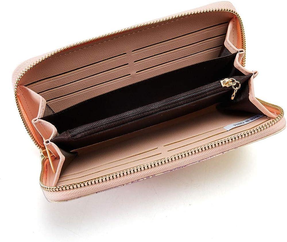 Cyanb Women Wallets Tassel Bifold Ladies Cluth Wristlet Wrist strap Long Purse