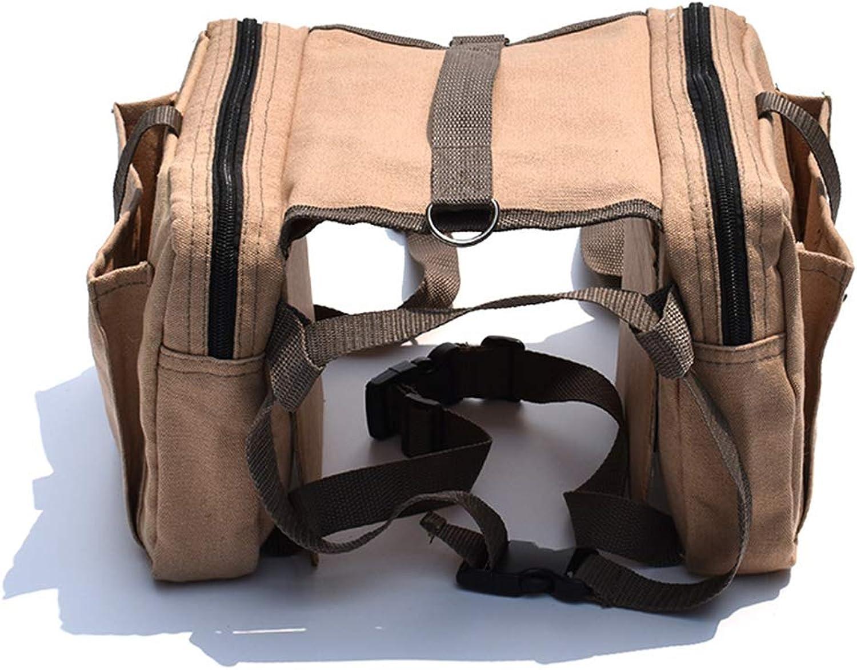 Lightweight Canvas Breathable Dog Pack Hound Travel Camping Hiking Backpack, Big Dog SelfBackpack Large Dog Backpack