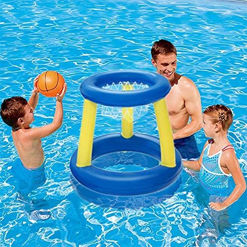 Diversión Al Aire Libre Deporte Bola De Bola Piscina Juegos De Verano Juguetes De Agua De Verano Baloncesto Inflable para Fiesta Familia Bolas De Piscina Bolas Accesorios De Juego (Color : Blue)