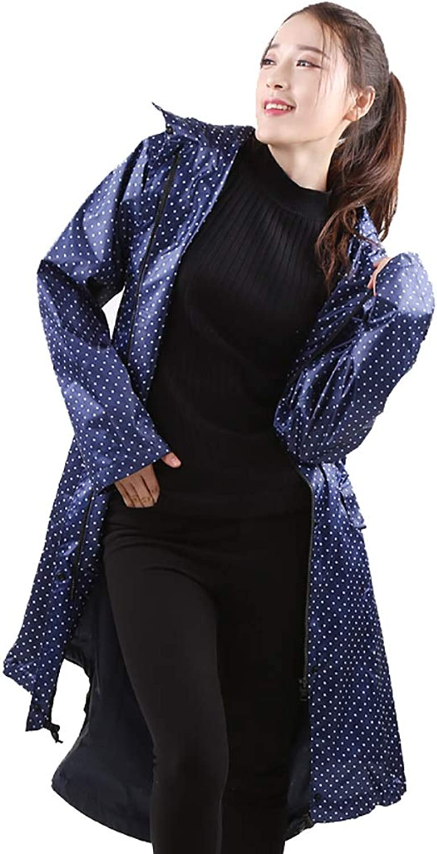 Women's Windbreaker Raincoat Long Raincoat Female Adult Slim Portable Raincoat Poncho (color   C, Size   XXL)