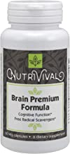 Nutrivival Brain Premium Formula Scientifically Formulated to Support Healthy Cerebral Functions* 60 Vegetarian Capsules