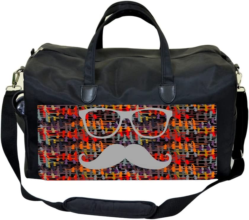 Hipster Glasses and Mustache on Crisscross Print Design Max 52% OFF gift Pattern