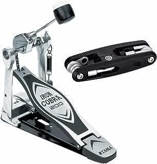 Tama HP200P Iron Cobra Single Pedal Bundle Includes TMT9 Drum Multi Tool