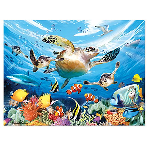 Howard Robinson HR28523 Journey of The Sea Turtle Super 3D Children's Wall Poster