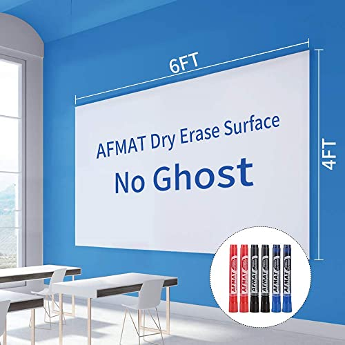 high quality Dry outlet sale Erase Whiteboard Paper, online Large White Board Stickers for Wall, 6x4ft Dry Erase Paper Roll with Adhesive Backing, Perfect Replacement for White Board, No Ghost After 60 Days, 6 Much Better Markers online sale