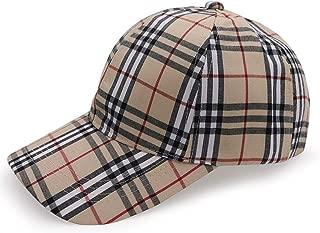 ROWILUX Casual Plaid Melange Cap Classic Tartan Dad Hat Adjustable Vintage Baseball Cap