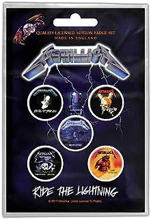 Metallica バッジ5個セット メタリカ Ride The Lightning